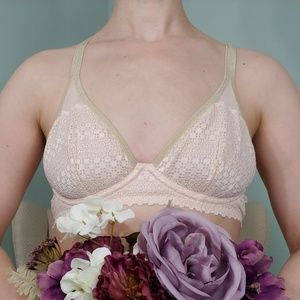 aerie Pink and Gold Bra